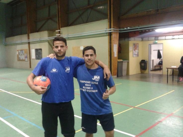 Marc i Alberto a un entrenament del seu nou equip.